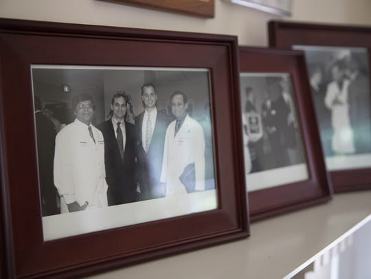 A photo on the home mantel of former MedStar Washington
