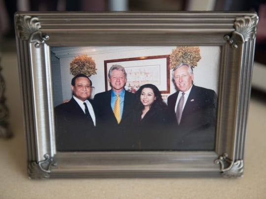 A photo in the home of recently retired Washington
