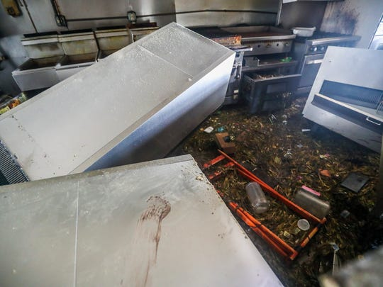 The kitchen inside Snapper's on Key Largo is a total loss.