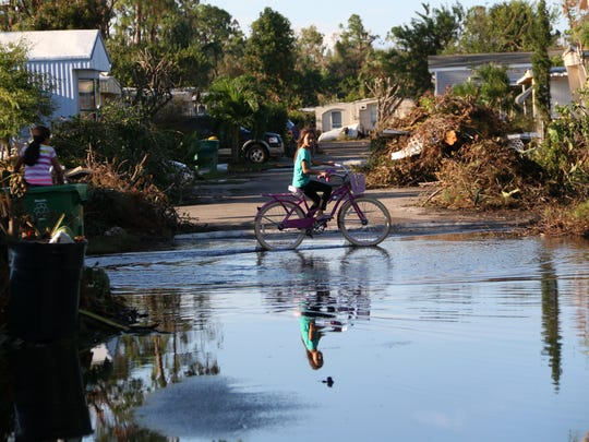 Many residents of Southwind Village in East Naples are left with nowhere to go following the destruction of their homes by Hurricane Irma. Residents are left with no options but to remain in their condemned homes or stay with friends and family in the neighborhood.