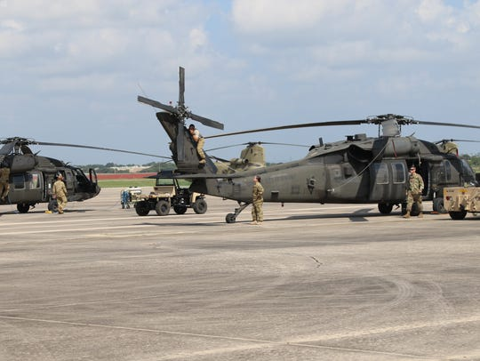 Maintenance crews from the 127th Aviation Support Battalion