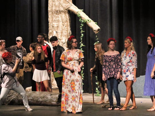 USJ students rehearse for the production of 'The Branchman,'