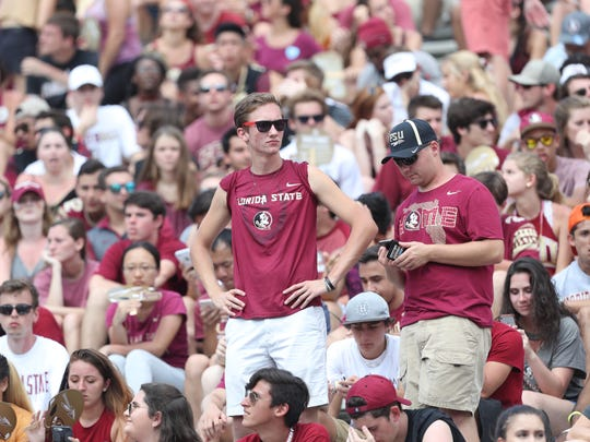 Fans watch as the Seminoles open their home schedule with a 27-21 loss against NC State at Doak Campbell Stadium on Saturday.