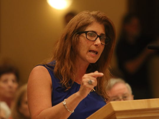 Cheryl Rubino voices her opposition to hydraulic testing