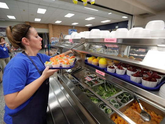 Bay View Middle School food service worker Crystal