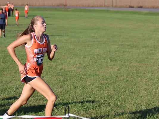 North Union girls cross country runner Kamryn Rhodes