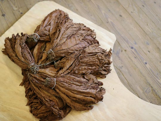 Tobacco Leaves are draped across the floor as the Havana