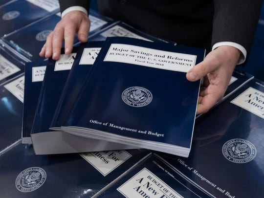 Copies of the Trump administration's fiscal year 2018