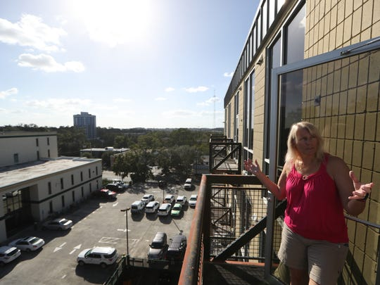 Lynda Tiefel, an owner of a condo at Adams Street Lofts who for years thought Scott Maddox was the building owner because she says he's always around trying to fix things, and conducts the annual condo owner's meetings in his law office across the street.
