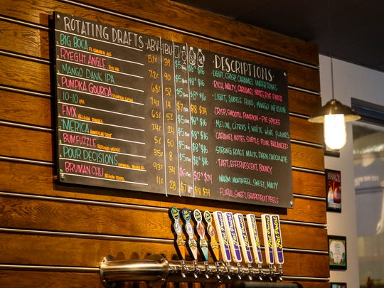 Their beers on tap right now. Behind The Brewery series: Fat Point Brewing in Punta Gorda.