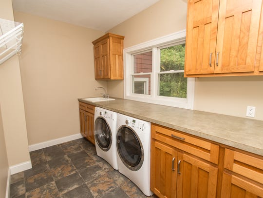 A convenient laundry space helps homeowners stay organized