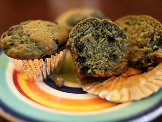 Banana blueberry muffins prepared by Lily Jones, 12,