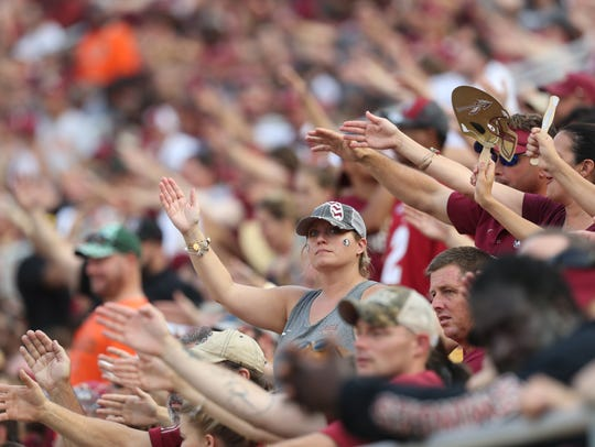 Fans watch as the Seminoles take on the Hurricanes