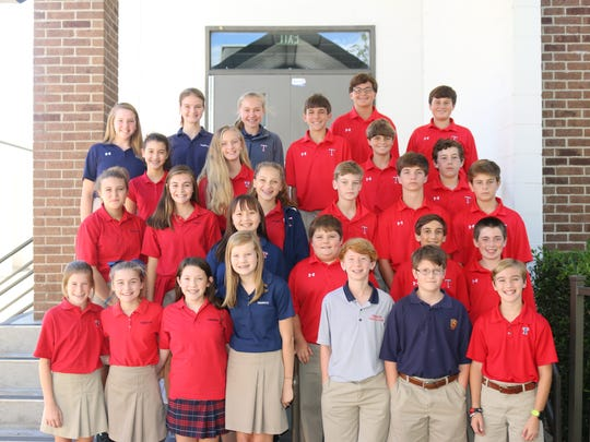 Twenty-seven Trinity Presbyterian School 7th graders were selected to participate in the 38th Annual Scholastic Talent Search.