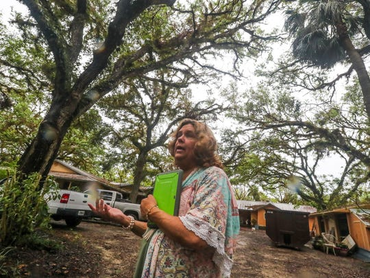 Wendy Peterson's property was flooded including her home. Residents along Bedman Creek were flooded during Hurricane Irma, but they feel like the flooding was man made and not because of the storm.