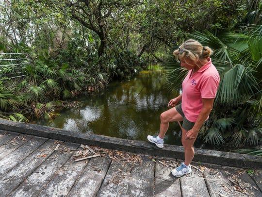Denise Eberle lives along Bedman Creek. She called