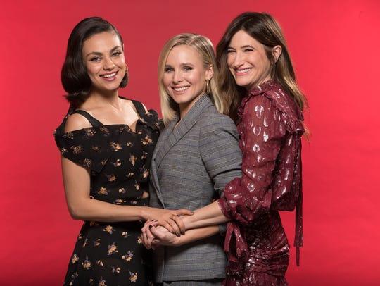 The cast of 'A Bad Moms Christmas' — Mila Kunis, Kristen