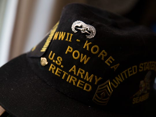 Sgt. Matthew Murphy's wife, Karen, calls his POW hat