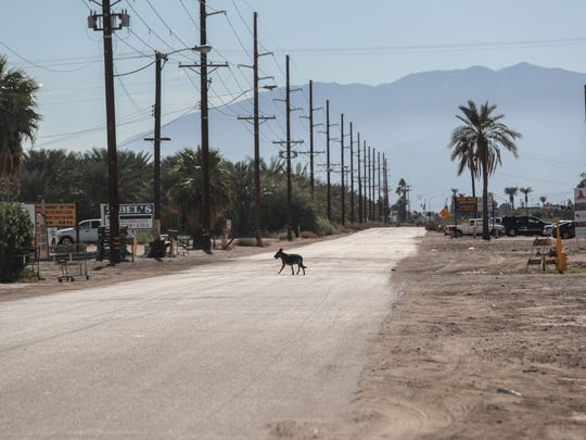 Auto salvagers along this stretch of Harrison Street in Coachella are transforming their businesses to marijuana cultivation. Photo taken on Thursday, November 9, 2017.