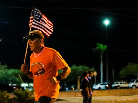 Hundreds ran the Midpoint Madness Veteran's 5K sponsored by The Sky YMCA. The theme includes a GLOW RUN! The run event ends back at Royal Palm Square with music, food and family-friendly activities. All race proceeds benefited the Fort Myers YMCA.