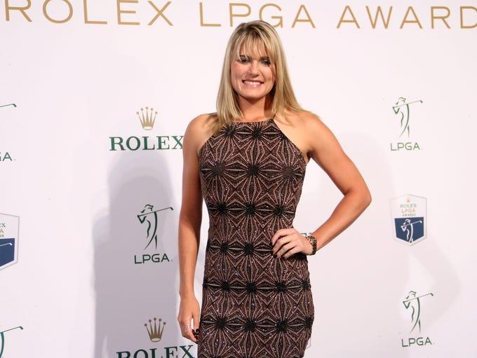 LPGA star Lexi Thompson walks the Green Carpet prior