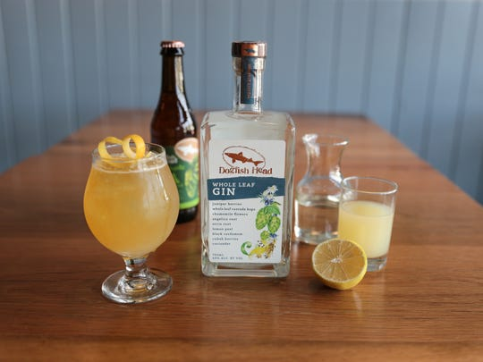 Dogfish's 60 Minute Man cocktail.
