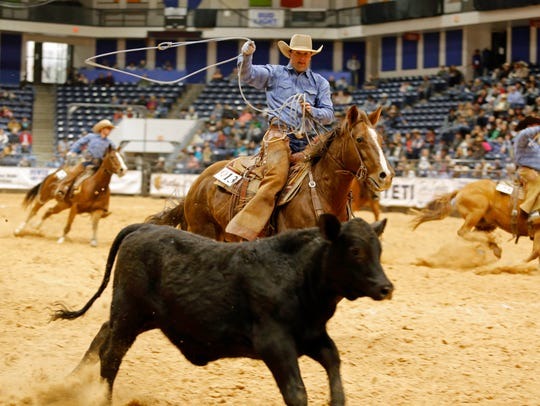 Graham Johnson of the Burns Ranch rides BR Mo Rey Me
