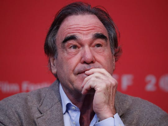 Oliver Stone speaks during a press conference of the