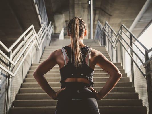 Woman preparing for workout