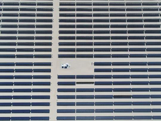 The 50-megawatt Seville solar farm at Allegretti Ranch