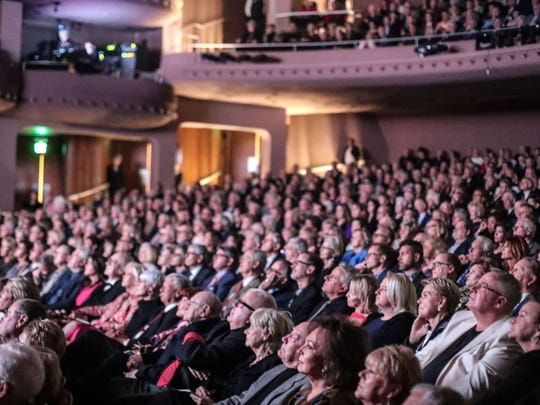 A packed house to celebrate McCallum Theatre's 30th anniversary gala on Thursday, November 30, 2017 in Palm Desert.