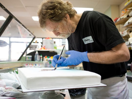 Jack Phillips, of Masterpiece Cakeshop in Colorado, refused to make a cake for a gay couple.