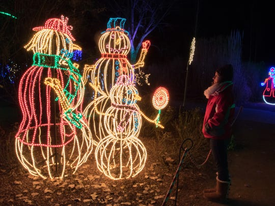 The annual River of Lights in the ABQ BioPark Botanic