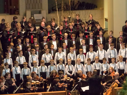 St. John's Boys Choir is shown in its 2016 performance of the Ceremony of Carols. This year's concert will be on Dec. 16.