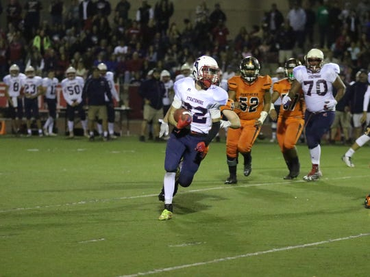 The Strathmore Spartans defeated the Orange Panthers Saturday in the CIF State Division 6-AA Championship Bowl Game at El Modena High School in Southern California.