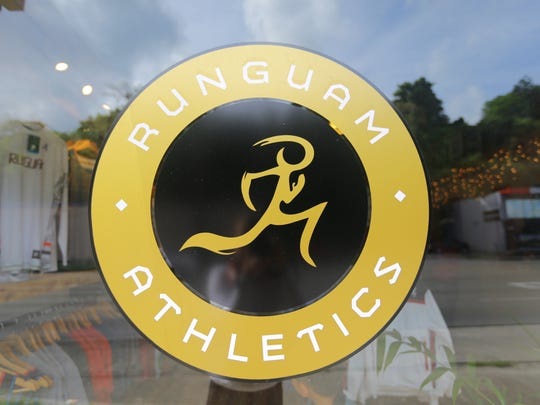The Run Guam logo can be seen at their East Hagåtña store.