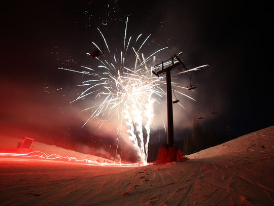 Showdown Ski Area holds its annual Torchlight Parade
