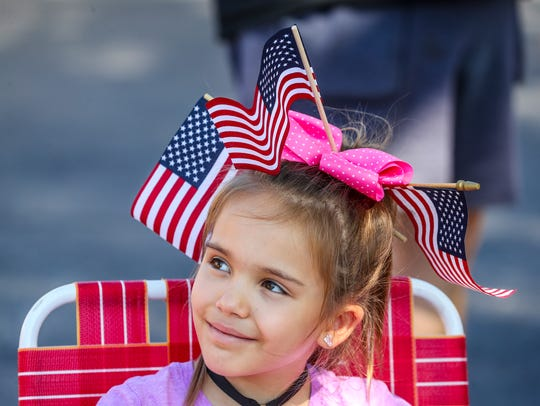 Adelyn Emery, 8 of Cape Coral, enjoyed the parade with