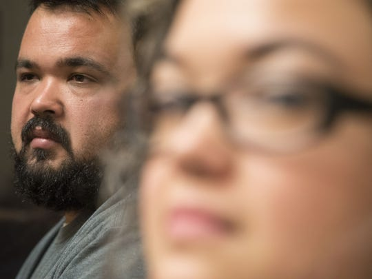 """DACA recipient Carlos Mundo, 31, and his sister Claudia Mundo, 34, both came to the U.S. with their mom 26 years ago. Carlos has been able to get green cards through a """"loophole"""" in former President Barack Obama's Deferred Action for Childhood Arrivals program. Claudia Mundo, applied for DACA renewal. Hundreds of thousands of undocumented immigrants will lose their deportation protection soon unless Congress takes action."""