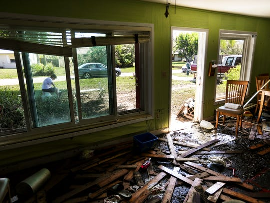 Hurricane Irma damaged thousands of homes in Lee County. Lee residents filed 79,804 damage claims and so far almost 92 percent have been closed.