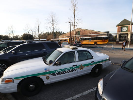 Leon County Sheriff Department had a stepped-up presence outside of Roberts Elementary School after email threats were made to the school district on Friday, Jan. 5, 2018