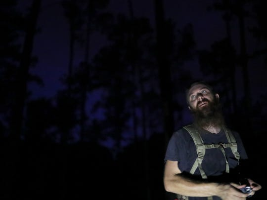 """Stacey Brown Jr. was the 2016 Bigfooter of the Year, with a photo of a """"skunkape."""""""