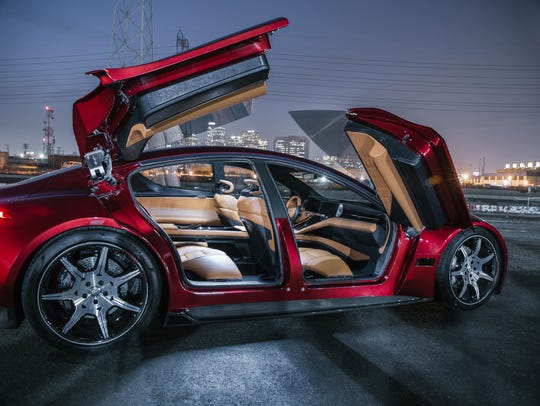 Fisker EMotion features unique doors that pivot up