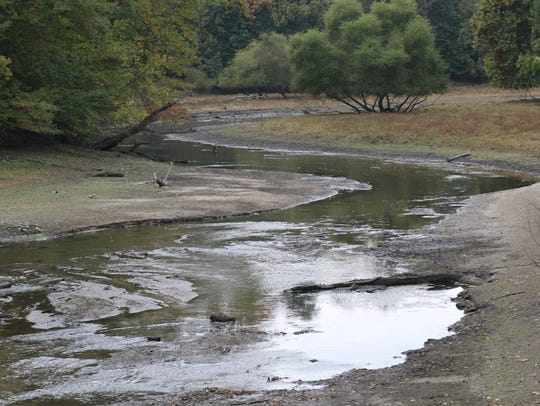 The Oradell Reservoir, shown here in Harrington Park,