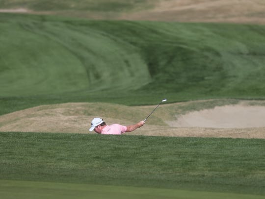 American Grayson Murray swings his club in frustration