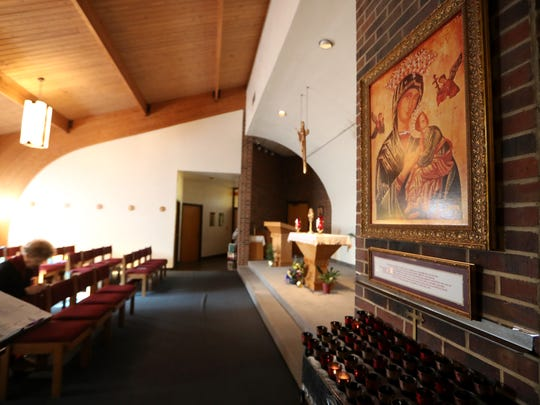Blessed Sacrament Catholic Church on Thursday, Jan. 18, 2018, where the church is celebrating 20 years of perpetual Eucharistic Adoration. The ritual involves around-the-clock prayer in the room with at least one parishioner present at all times, which began at the church on Jan. 26, 1998.