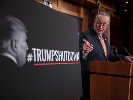 Senate Minority Leader Chuck Schumer blamed January's government shutdown on President Trump; Trump and Republicans called it the #SchumerShutdown