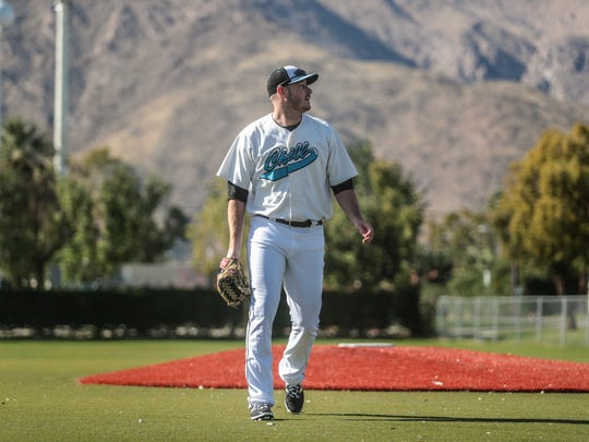 Tyler Matzek a former MLB playeris playing for the Palm Springs Chill in the desert this winter as part of the California Winter League. Photo taken on Wednesday, January 24, 2018 in Palm Springs.