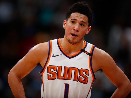 Phoenix Suns guard Devin Booker (1)