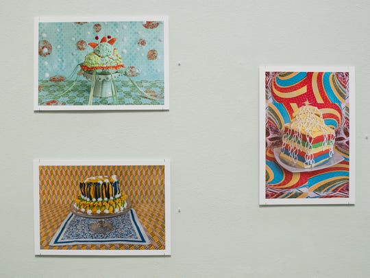 Art work by Amy Stevens on display at Texas A&M University Corpus Christi's Weil Gallery.